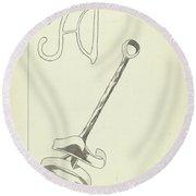 Branding Iron Round Beach Towel