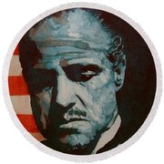 The Godfather-brando Round Beach Towel
