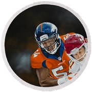 Brandon Marshall Round Beach Towel