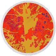 Brandywine  Maple Fall Colors 4 Round Beach Towel