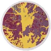 Brandywine  Maple Fall Colors 7 Round Beach Towel