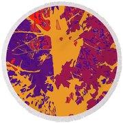 Brandywine  Maple Fall Colors 8 Round Beach Towel
