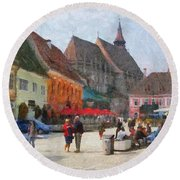 Brasov Council Square Round Beach Towel