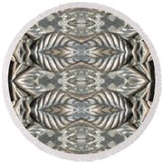 Brass Rose Pillar Round Beach Towel
