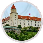 Bratislava Castle One Round Beach Towel