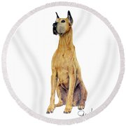Brave Round Beach Towel by Phyllis Howard