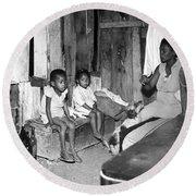 Brazil: Favela, 20th Century Round Beach Towel