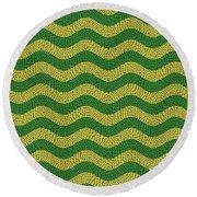 Brazilian Paving Pattern In Brazilian Colours. Round Beach Towel