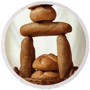 Bread Tower Round Beach Towel