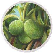 Breadfruits St Kitts Round Beach Towel