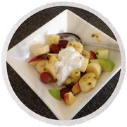 Fruit Salad For Breakfast  Round Beach Towel