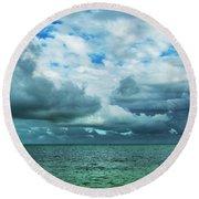 Breaking Clouds In Key West, Florida Round Beach Towel