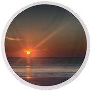 Breaking Dawn Daytona Beach Round Beach Towel