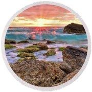 Breaking Dawn Round Beach Towel by Marcia Colelli