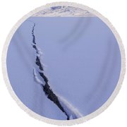 Breaking Ice Round Beach Towel