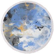 Breaking Storm Round Beach Towel