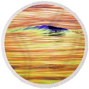 Breaking Swell Two  Round Beach Towel