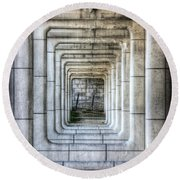 Breaking Through The Forth Wall Round Beach Towel