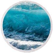 Breaking Wave At Kekaha Beach Round Beach Towel