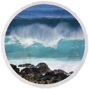 Breaking Waves Round Beach Towel