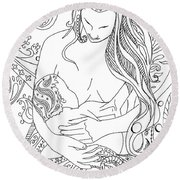 Breastfeeding Is Beautiful Round Beach Towel