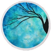 Breathless 1 By Madart Round Beach Towel