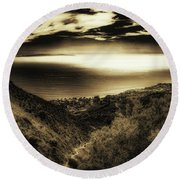 Breathless View Round Beach Towel