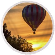 Breathtaking Hot Air Round Beach Towel