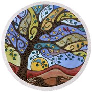 Breeze Among The Branches Round Beach Towel