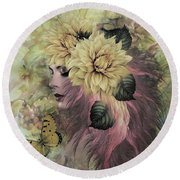 Breeze Blowing With Fragrance Round Beach Towel