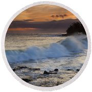 Brennecke Waves Sunset Round Beach Towel