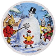 Brer Rabbit From Once Upon A Time Round Beach Towel