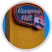 Brewers Hill Retro Round Beach Towel