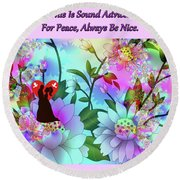 Brian Exton Celestial Flowers  Bigstock 164301632  2991949 Round Beach Towel