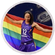 Briann January Lgbt Pride 2 Round Beach Towel
