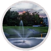 Briarcliffe Acres Sunset Round Beach Towel