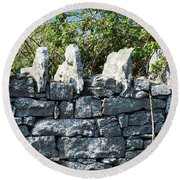 Briars And Stones New Quay Ireland County Clare Round Beach Towel