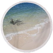 Bribie Branches 2 Round Beach Towel