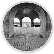Brick Arch Round Beach Towel