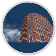 Brick Building  Round Beach Towel