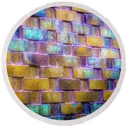 Brick Wall In Abstract 499 S Round Beach Towel