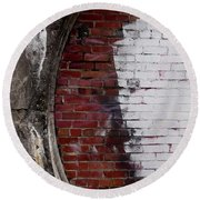 Bricked In Round Beach Towel by Tim Good