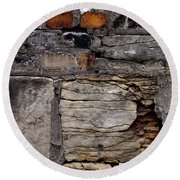 Bricks And Blocks Round Beach Towel by Tim Good