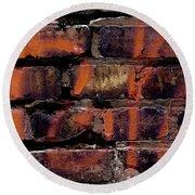 Bricks And Graffiti Round Beach Towel by Tim Good