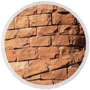 Bricks Spiraling Round Beach Towel