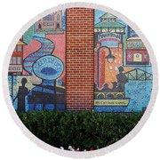 Bricktown Mosaics Round Beach Towel