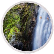 Bridal Veil  Falls 3 Round Beach Towel
