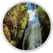 Bridal Veil Falls, Oregon Round Beach Towel