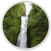 Bridal Veil Falls - Oregon Round Beach Towel
