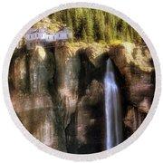 Bridal Veil Falls Power Plant - Telluride - Colorado Round Beach Towel